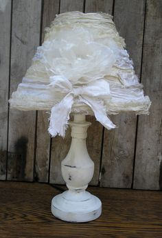 Bedroom Boudoir Lamp Shabby Chic French Cottage by upcyclesisters