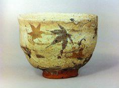 Konahiki-tea bowl by Handeishi Kawakita 1878〜1963