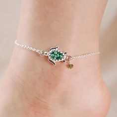 Anklets Pink Stone Sea Turtle Bead Hemp Anklet Natural Macrame Handmade Ankle Bracelet To Rank First Among Similar Products