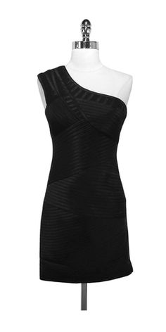 BCBG Black 1 Shoulder Dress