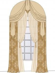 Gardiner window treatment for the darn arched window Shower Doors – Choosing The Right One For You S