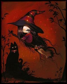 Art 'Lovli Little Witch' - by Nico Niemi from witches
