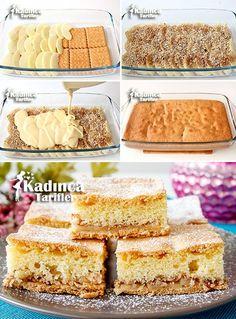 Bisküvili Elmalı Kek Tarifi