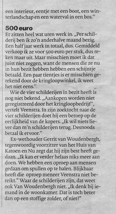 #ALMELO Kringloop neemt kunst mee van Joop Veenstra #Tubantia 