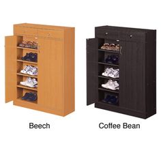 Furniture Of America 5-shelf Shoe Cabinet With Two Upper Storage Bins