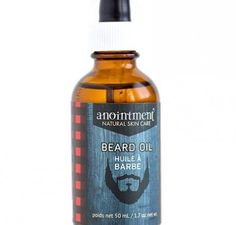 Anointment - New Brunswick, Canada--- Use Anointment Beard Oil to soften dry whiskers or apply to face and neck after shaving to moisturize and soften. Contains Canadian-grown certified organic sunflower and certified organic jojoba oils. Sage, cedar and lavender essential oils help balance and calm the skin. Apply to clean skin or beard and massage gently. If desired, warm oil by placing bottle in a cup of hot water for a few minutes prior to use. Pair with our Woodland Sage Soap for a…