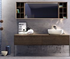 Bathroom furniture set COMO by Ceramica FLAMINIA | #design Rodolfo Dordoni #minimal #bathroom