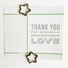 A thank you goes a long way. These beautiful thank you cards are all your guests need to feel even more special after your baby shower. Available in garden green in packs of 8, 12, 16 or 20.