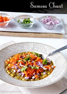Samosa chaat is spicy, yummy and very easy to make.