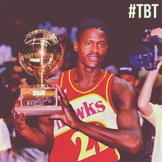 Dominique Wilkins wins the 1990 Slam Dunk Contest. #TBT