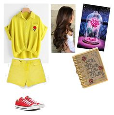 Belle by cupcake990 on Polyvore featuring polyvore Mode style BLANKNYC Converse Judith Leiber fashion clothing