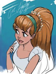 I drew one of my best friends as her cartoon doppelganger, Thumbelina…..
