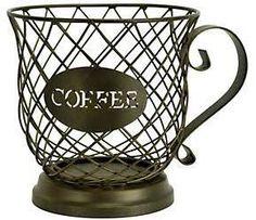Boston Warehouse Coffee Cup Coffee Pod Storage Basket