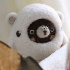 Handmade needle felted felting cute animal project bear toy doll   Feltify
