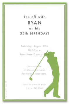 Golf invitation idea