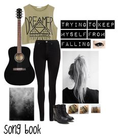 """music is my only drug"" by alexisbierack ❤ liked on Polyvore featuring Dr. Denim"