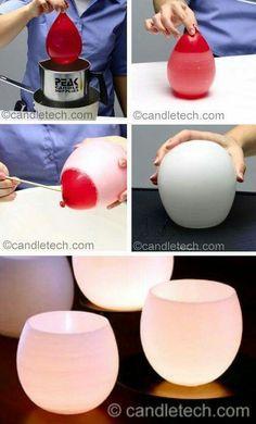 Alçı ve balondan mumluk veya vazo yapimi