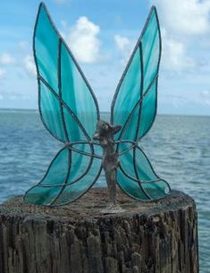 Stained Glass Fairy Patterns | Color Let Us Choose Green Blue Purple White Frost Black