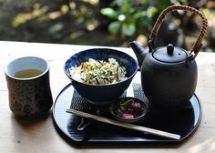 Ochazuke at the tea house in the Japanese Tea Garden in Golden Gate Park