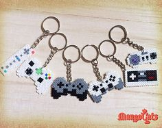 Game controller hama bead sprite (Wii, NES, SNES, Xbox, PS, Playstation, Nintendo, Microsoft)