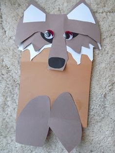 Wolf paper craft - idea.