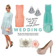 Wedding guest attire for summer: pretty pastels | Sealed with a ...
