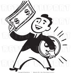walter s friend takes his money raisin in the sun inventory rh pinterest com money bills clipart black and white money bag clipart black and white