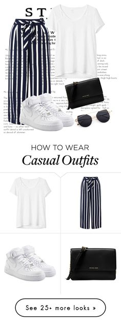 """Keeping it casual"" by edonaaaa on Polyvore featuring Monsoon, NIKE, Gap and Michael Kors"