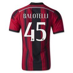 Maillot Milan AC 2014-2015 BALOTELLI 45 Domicile pas cher ae92b8b1819