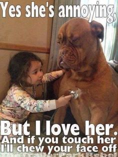 Children with dogs, so cute :)
