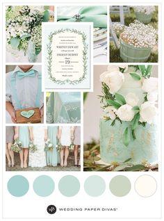 Rustic Mint Wedding Theme Ideas | Wedding color palette | Wedding Paper Divas | Affiliate link |