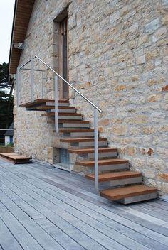 Photo dt108 esca 39 droit escalier droit ext rieur design for Petit escalier en bois