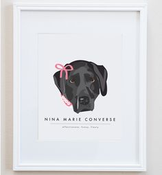 So awesome! Custom Pet illustrations by Two Brunettes