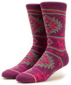 Made with a thick and soft blended construction, these crew socks are in an allover tribal native print for the perfect fusion of vibrant style and quality comfort.