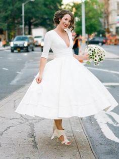 891af1e3f16 Short Tea Length Wedding Dresses