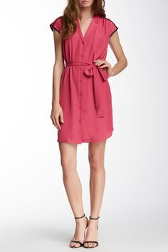 Piped Shirt Dress by Collective Concepts on @HauteLook