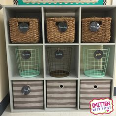 Love the rustic-chic decor and organization in this classroom! No primary colors here :)