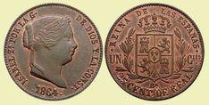 25 Céntimos Real. Barcelona, 1864