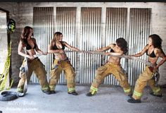 volunteer firefighters don't quite look like that. But you can imagine I do.