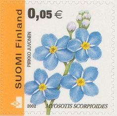 Finland stamp forget me nots flower blue Flower Stamp, Flower Art, Postage Stamp Art, Postcard Art, Love Stamps, You Are The World, Vintage Stamps, Small Art, Stamp Collecting