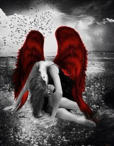 Color splash | A splash of red | Broken Angel