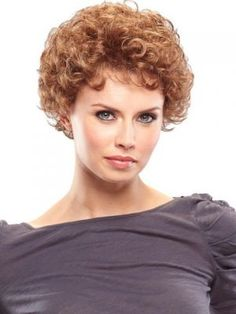 Easy short hair style for curly hair