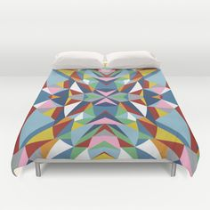 Abstract Kite Duvet Cover by Project M | Society6 #abstract #kite #colour #blocks #projectm