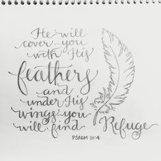 He will cover you with his feathers and under his wings you will find refuge