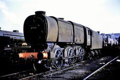 """SR. Bulleid """"Q1"""" class 0-6-0 No. 33005. At Ashford Shed (73F), 0n the 6th March 1960. Photo by Ron Bowyer."""