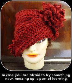 Crochet Pattern Hat Crochet Hat Pattern Womens Hat Crochet Flower Pattern Crochet LAUREN 1920s Cloche Hat Pattern by strawberrycouture by #strawberrycouture on #Etsy
