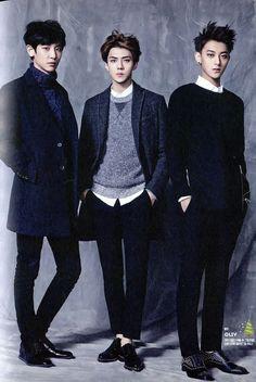 Chanyeol,Sehun,and Tao
