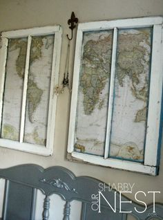 Add some creative charm in your home with an old window! Here are some Repurposed Window Ideas that you can get inspiration from, for your own original project! Old Window Crafts, Old Window Decor, Old Window Projects, Old Window Ideas, Window Frame Art, Old Window Panes, Decor With Old Windows, Decorating With Window Panes, Old Window Art