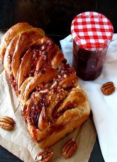 Raspberry Pecan Swirl Bread