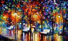 Leonid Afremov Night Copenhagen oil painting reproductions for sale